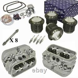 1914cc Air-cooled Vw Engine Rebuild Kit, Top End GTV-2 Heads And Pistons