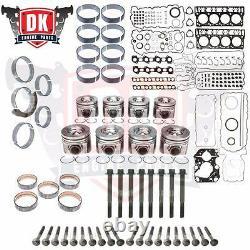 2008-2010 Ford 6.4 Powerstroke Diesel Complete Rebuild Overhaul Kit with Pistons