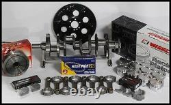 383 Stroker Assembly Scat Crank 6 Rods Wiseco Flat Top 040 Pistons 2pc Rms