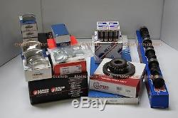 401 AMC Jeep master engine kit PERF CAM Hi-compression pistons rings gaskets