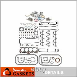 88-89 Toyota Corolla MR2 1.6L Full Gasket Pistons&Bearings&Rings Set 4AGE 4AGELC