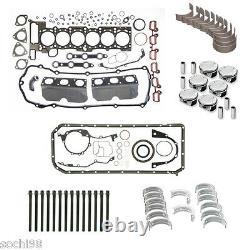 BMW E39 E46 325i 525i X3 M54 2.5 Engine Rebuild Kit 02-06 Gasket Pistons Rings