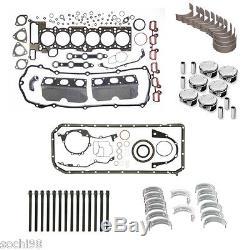 BMW E39 E46 E53 E83 X5 M54 3.0 Engine Rebuild Kit 01-06 Gasket Pistons Rings