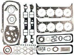 Chevy 350/5.7 VIN-K MASTER Engine Kit Gaskets Rings+Stage 2 Cam+5/8 OP 1987-94
