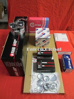 Chevy 350 5.7L Engine Kit Hypereutectic Flat Top Pistons+Rings+Timing 1968-79