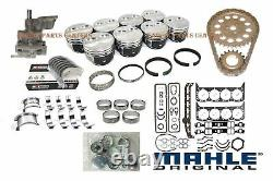 Chevy 350 5.7L MASTER Engine Rebuild Kit Flat Top Pistons+Cam 1969-79 Stage 1