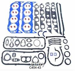 Chevy 454 Rering Engine Kit 1970-79 Gaskets+MOLY Rings+Rod/Main Bearings GEN 4