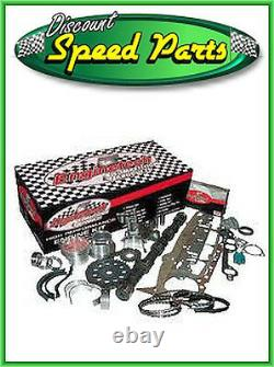 Chevy Stage 1 383 SBC Stroker Engine Kit w Hypereutectic Flat Top Pistons & Cam