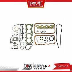 DNJ EK525 Engine Rebuild Kit For 89-95 Geo Suzuki Sidekick Tracker 1.6L SOHC 8v