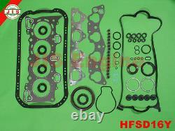 Engine Rebuild Kit Fits 9600 Honda Civic del SOL S/Si 1.6L SOHC D16Y7/8 HEKD16Y