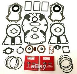 Engine Rebuild Kit Fits Kohler Kt17, Kt19, M18, M20, Mv16, Gasket Set & Rings