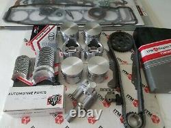 Engine Rebuild kit 6-Pistons & Rings Brgs Gaskets + fits Nissan 280ZX 81-83