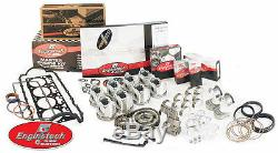 Enginetech Rebuild Overhaul Kit Small Block Chevy 283 4.6L Flat tops Double Roll