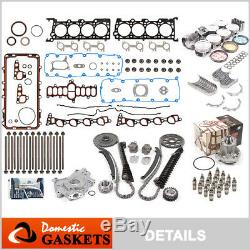Fit 97-99 Ford Lincoln 5.4L 2V SOHC Master Engine Rebuild Kit Non-Power Improved