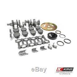 Fit Chevy SBC 383 2pc. Cast Crank I-Beam Hyper Pistons Balanced Stroker Kit