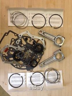 For Kohler KT17 engine rebuild kit, Gasket set, std rings. 010 rod