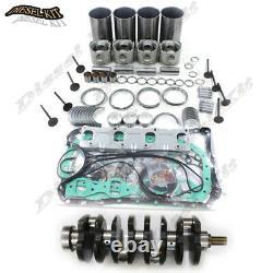 Isuzu 4JB1 Rebuild Kit&Crankshaft Mustang Bobcat 843 853 1213 960 2060 Loader
