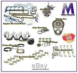 MERCRUISER OMC GM 3.0 181 Marine Engine Rebuild Kit Oil Pump Pistons REV Rot 2PC