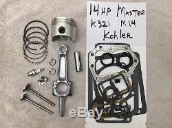 Master ENGINE REBUILD KIT FOR K321 14hp KOHLER withValves