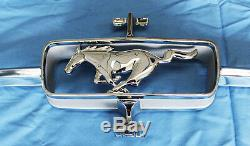 NEW! 1964-1965 Mustang Chrome Grill Ornament Horse and Corral Pony & Bars