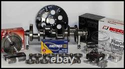 SBC CHEVY 400 ASSEMBLY SCAT CRANK & 6 RODS WISECO -12.5cc Dh 4.125 PISTONS