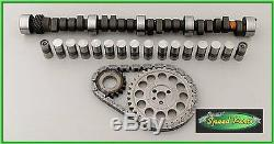 SBC Chevy 350 5.7L STAGE 3 Hi-Perf. Engine Rebuild Kit Camshaft Pistons lifter
