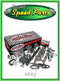 SBC Chevy Stage 1 383 Stroker Engine Kit w Hypereutectic Flat Top Pistons & Cam