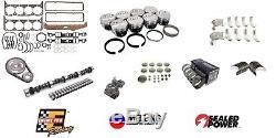 Sbc Chevy 350 5.7l Stg 4 Performance Master Engine Rebuild Kit Camshaft Pistons