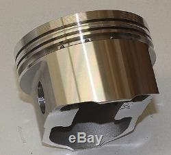 Sbc Chevy 406 Assembly Scat Crank 6 Rods Wiseco Flat Top 4.155 Pistons 400mj