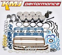 Small Block Chevy 350 Engine Rebuild Overhaul Kit with Pistons Rings & Bearings