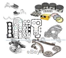 00-08 Kit De Reconstruction Du Moteur Principal Toyota Corolla Matrix 1.8l, 1zzfe Dohc, Graphite