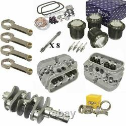 2276cc Air-refroidi Vw Engine Rebuild Kit, 82mm Crank Gtv-2 Heads And Pistons