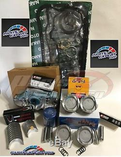 92-95 Honda CIVIC Engine Rebuild 75mm Kit Pjc Vitara Faible Compression Pistons