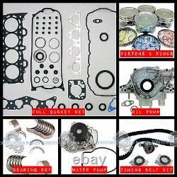 96-00 Honda CIVIC 1.6l D16y D16y7 D16y8 Kit De Reconstruction Du Moteur Principal Sohc