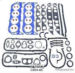Bbc Chevy 454 Etape 1 Salut-perf. Moteur Rebuild Kit Pistons Releveurs Arbres À Cames