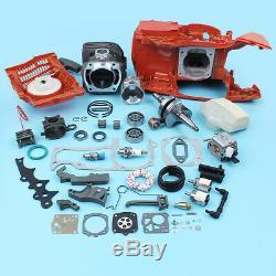 Carter Moteur À Piston Du Cylindre Moteur Rebuild Kit Pour Husqvarna 372 371 365 362 -50mm