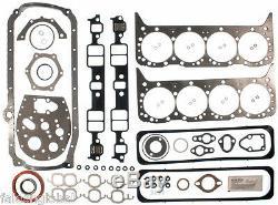 Chevy 350 / 5.7 Vin-k Kit Moteur Pistons + Anneaux + 5/8 Pompe À Huile + Roulements + 87-94 Joints D'étanchéité