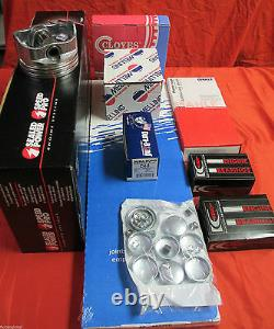 Chevy 350/5.7l Kit Moteur Vortec Pistons+rings+timing+gasket+bearings+head Bolts
