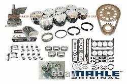 Chevy 350 5.7l Master Engine Rebuild Kit Flat Top Pistons + Cam 1969-1979 Etape 1
