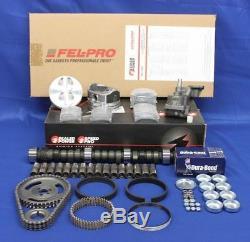 Chevy 350 Etape 3 Maître Reconstruire Pistons Kit Moteur Roulements Ressorts Came 68-79