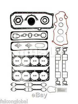 Chevy / Gmc 350 5.7l Vortec Moteur Rering Kit Moly Anneaux + Roulements + Fel Pro Joints D'étanchéité