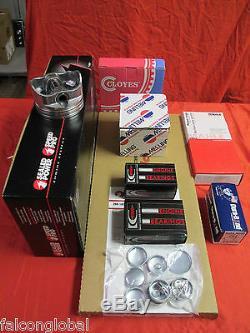 Chevy Gmc 6.2l 6.2 Kit Moteur Diesel Pistons + Bagues + Roulements + Joints 1982-1991