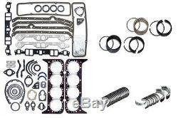 Chevy Sbc 350 5.7l 2 Pc Seal Moteur Rering Restant Kit Roulements Joints Joints