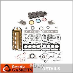 Fit 05-08 Dodge Chrysler Jeep 5.7l Hemi Npr Pistons&rings&bearings Set Vin 2 H