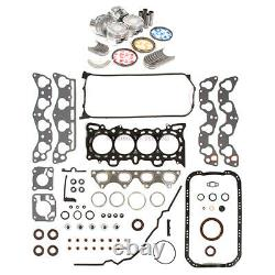 Fit 96-00 Honda CIVIC De Sol Full Gasket Piston Portant Anneau D16y7 D16y8 D16y5