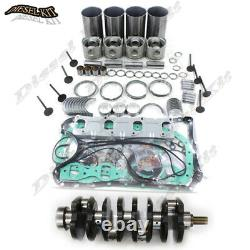 Isuzu 4jb1 Reconstruire Kit & Vilebrequin Mustang Bobcat 843 853 1213 960 2060 Chargeur