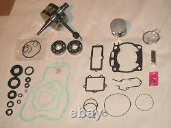 Kawasaki Kx 250 Engine Rebuild Kit Gasket Roulements Piston Crankshaft 92-01 Moteur