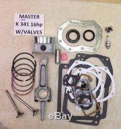 Kit De Maître Rectification Moteur Withvalves Pour Kohler K341 16hp M16 With16hp