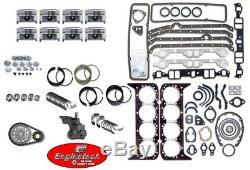 Kit De Reconstruction De Moteur Pour Sbc Chevy Gm Truck 350 1967-1985 Pistons À Plate V8 5.7l