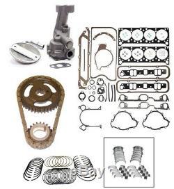 Kit Moteur Pontiac 400 Pistons + Bagues + Distribution + Pompe À Huile + Tige / Paliers Principaux + Joints